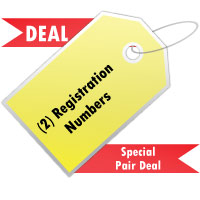 Domed Registration Number Deal