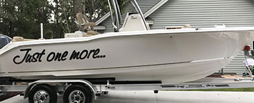 Domed Boat Lettering