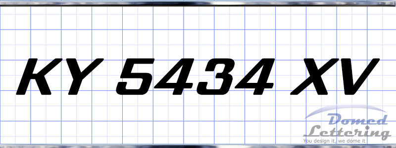 Mastercraft Style Domed Registration Numbers